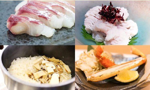 旬の味覚 鯛 鱧 松茸 カニ