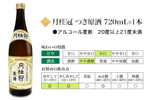 月桂冠 つき原酒 720mL