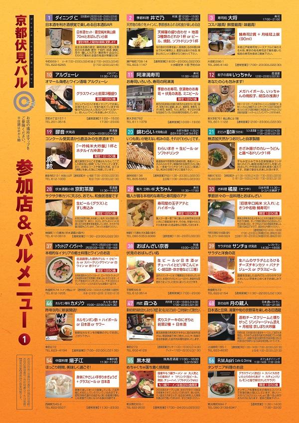 伏見バル2020 ガイドマップ4