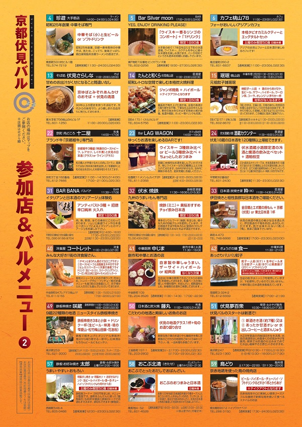 伏見バル2020 ガイドマップ5